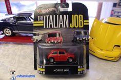 Hot Wheels The Italian Job Red Morris Mini 1/64 Retro Entertainment