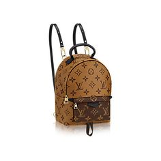 Palm Springs Backpack Mini ($1,910) ❤ liked on Polyvore featuring bags, backpacks, mini cross body bags, shoulder strap backpack, day pack backpack, brown bag and mini crossbody bag