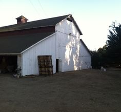 old white barn.