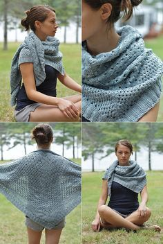 campside shawl - free knitting pattern on espacetricot