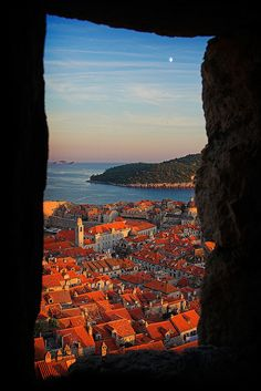 moonrise by darkmatter, via Flickr  Can't wait to get to Croatia