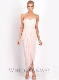 Pinks, pink bridesmaid dress, pink strapless dress