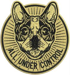 All under control machine embroidery design. Machine embroidery design. www.embroideres.com