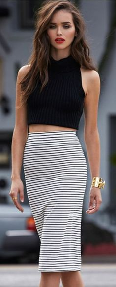 High waisted pencil skirt. can be youthful or refined. chic or funky. day to night. office to party.