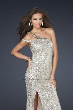 #La Femme 17154 at Prom Dress Shop  shoulder dresses  #2dayslook #shoulder style # shoulderfashion  www.2dayslook.com