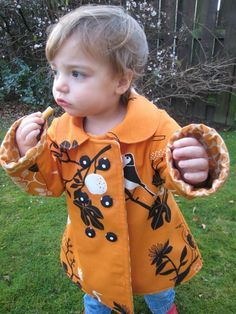 Reversible double breasted coat pattern and tutorial - 18m/2T/3T/4T - PDF ($11.52)