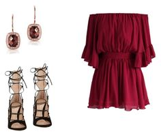 """""""386 outfit"""" by julieannbb13 on Polyvore featuring Chicwish, Gianvito Rossi and Anne Sisteron"""