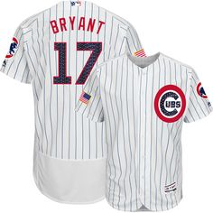 43d27b35c2f00 Kris Bryant Chicago Cubs 4th of July Stars   Stripes Flex Base Jersey by  Majestic®
