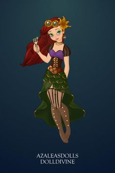 Steampunk Ariel ~ by ~Zennia~ ~ created using the Pixie doll maker | DollDivine.com