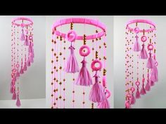 Diy craft jhumar – DIY in 2020 Door Hanging Decorations, Wall Hanging Crafts, Hanging Ornaments, Handmade Decorations, Diy Crafts Hacks, Diy Crafts For Gifts, Crafts To Make And Sell, Easy Diy Crafts, Felt Crafts
