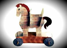 Easy-To-Build Trojan Horse Paper Model - by DLTK's Crafts For Kids