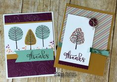 6 Cards With Stampin' UP Totally Trees