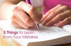 Mistakes should not define you or stop you--and they won't if you view them as lessons. Here are 5 Things You Can Learn from Your Mistakes   via @SparkPeople #motivation