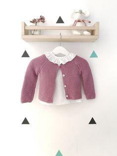 Chaqueta Punto Crochet Kids Hats, Knitting For Kids, Knitting For Beginners, Baby Knitting Patterns, Knitting Designs, Free Knitting, Crochet Baby, Knitted Hats, Drops Baby