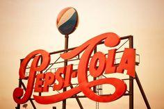 Vintage Pepsi Sign Print Pepsi Logo Retro Kitchen Decor image 0
