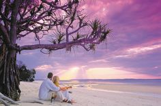 Sunsets, champagne and romance go hand in hand on Fraser Island #honeymoon #heaven