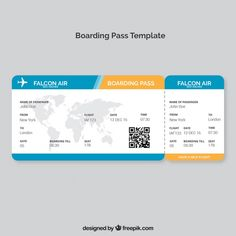 Boarding pass template with map and color details vector free Freepik Travel Tickets, Airline Tickets, Air Tickets, Ticket Template Free, Coupon Template, Boarding Pass Template, Printable Tickets, Paper Flower Patterns, Paper Box Template