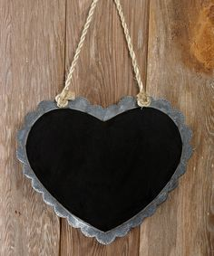 Another great find on #zulily! Hanging Heart Chalkboard Sign #zulilyfinds