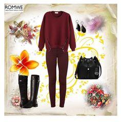 """Romwe 10"" by sarahguo ❤ liked on Polyvore featuring J Brand, Aerosoles, MICHAEL Michael Kors and MANGO"