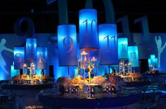Use your date as part of the decor. This party was held on 9-10-11 and they used 7:08pm as the arrival time and 12:13am as the end time - thus incorporating 7-8-9-10-11-12-13 into the invite!