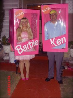 Halloween...Barbie and Ken- i know who needs to do this next year...