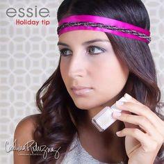 "Carolina Rodriguez's DANILA headband & ""east hampton cottage"" Essie nail polish"