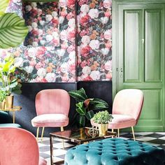 Thursday floral loveliness via - Architecture and Home Decor - Bedroom - Bathroom - Kitchen And Living Room Interior Design Decorating Ideas - Decor, Living Room, Home Decor Bedroom, Eames Lounge Chair, Decor Interior Design, Home Decor, Elle Decor, Interior Design Living Room, Interior Design