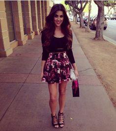 Blouse: nicole guerriero skirt shoes