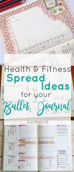Stay motivated to reach your health and fitness goals with these inspiring bullet journal spreads, logs, layouts, and trackers.