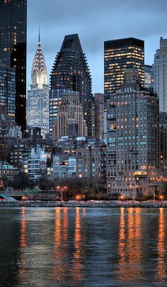 Manhattan as seen from Roosevelt Island across the East River in New York City • photo: JC Findley on FineArtAmerica