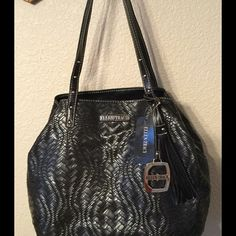 Reserved for Jahsposhcloset Sarah bag, see pics, weaved look, soft feel, very roomy. Ellen Tracy Bags