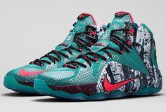 "New! Men Nike Lebron 12 XII ""Christmas"" Xmas Green KD 707558-363 Multi  10  | eBay"