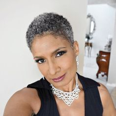 Shiny 58 Short Hairstyles for Black Women over 50 – New Natural Hairstyles Short Natural Haircuts, Natural Hair Cuts, Natural Hair Styles, Tapered Natural Hairstyles, Short Grey Hair, Short Hair Cuts, Curly Short, Long Hair, Fine Curly Hair