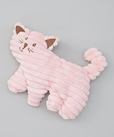 Take a look at this Pink Corduroy Cable-Knit Kitten Toy on zulily today!