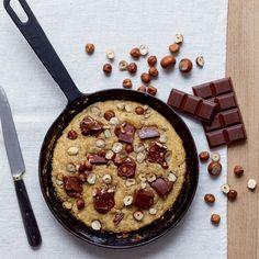 recette cookie à la poele / recette cookie chocolat et noisette