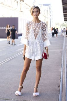 619d0432 Bold colors and silhouettes were a thing in Australia. See all the best  street style