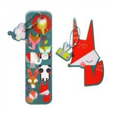 Animal gang bookmarks - set of 2