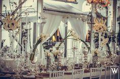 Bouquets de cartuchos con accesorios y velas a diferentes alturas!!