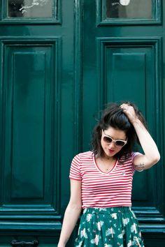 Look Smallable marinière rouge jupe longue Des Petits Hauts Sandales camel Somewhere Panier L'atelier d'al blog mode lifestyle Paris