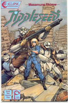 """omercifulheaves: """" Cover artwork by Arthur Adams for the 1989 Eclipse Comics release of Masamune Shirow's Appleseed. Comic Book Artists, Comic Artist, Comic Books Art, Old Anime, Anime Manga, Character Art, Character Design, Masamune Shirow, Perspective Art"""