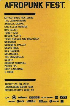 Annual Brooklyn Afropunk Fest.