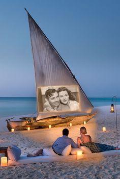 Mnemba Island Lodge - Zanzibar, Tanzania (Beautiful setting for watching a movie!) http://itz-my.com