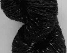 Aran Tweed en fils (noir) irlandais Donegal Kilcarra laine 7oz / 200g