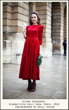Ulyana Sergeenko - 2010 - red dress