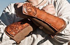 Renaissance Leather Bracer. $110.00, via Etsy.