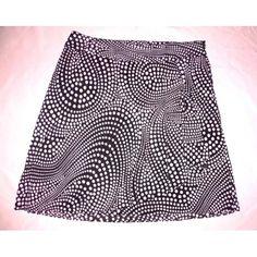 a1db30f194 A Line Plus Size Skirt Faux Wrap Black   Pink