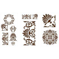 Martha Stewart Crafts Tapestry Laser-Cut Stencils-32263 - The Home Depot