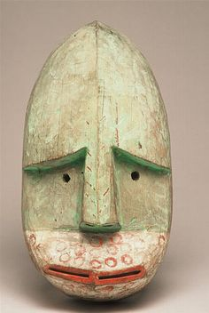 Masque Shugishat, Archipel de Kodiak, Alaska, collecté en 1871/2 par Alphonse Pinart (1852-1911)