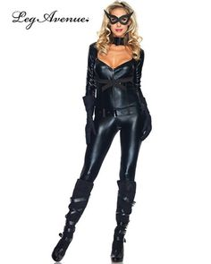 Catwoman Costume Sexy Cat Girl Costumes, Sexy Cat Costumes, Sexy Women's Costumes - STYLE NO: 85015 4 PC Cat Girl Costume includes jumpsuit, belt, gloves and eye mask. Costume Batman, Sexy Cat Costume, Cat Girl Costume, Costume Chat, Costumes Sexy Halloween, Sexy Costumes For Women, Halloween Costume Accessories, Cat Costumes, Costume Dress