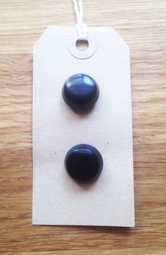 Two Vintage Black Buttons/Flat Edge Dome Buttons/Shank Buttons/Set of Two/Plastic by EmberandWillow on Etsy https://www.etsy.com/listing/188583490/two-vintage-black-buttonsflat-edge-dome
